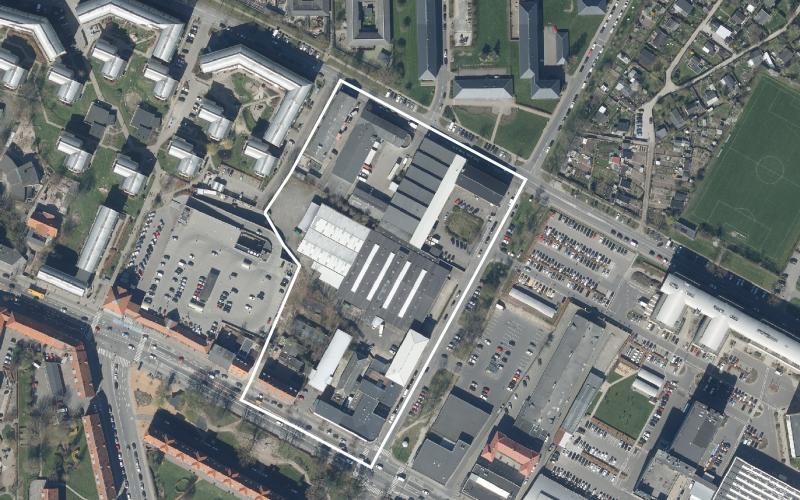Luftfoto af lokalplanområdet Kobbelvænget