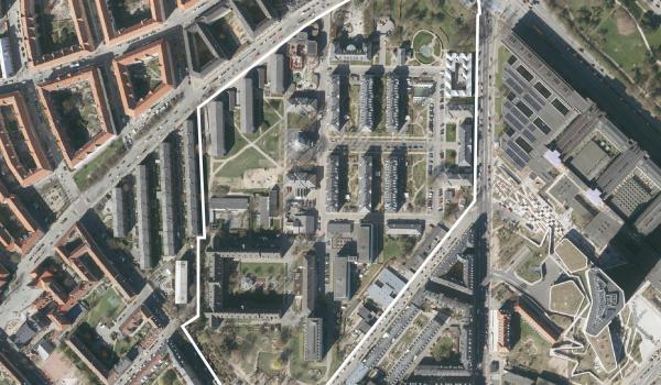 Luftfoto over lokalplanområdet