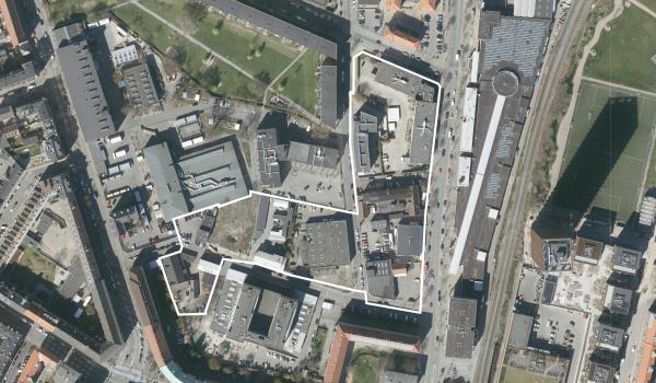 Foto over lokalplanområdet Drejervej