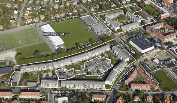 Foto af lokalplanområdet Lønstrupgård