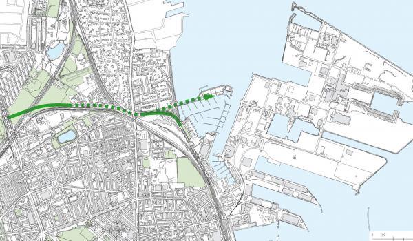 Illustration af den kommende Nordhavnsvej