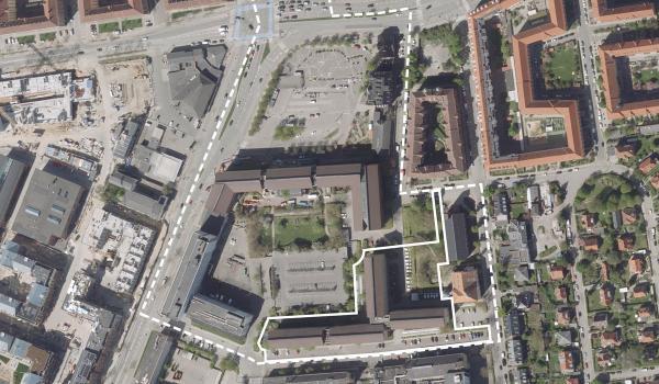 Luftfoto af lokalplanområdet