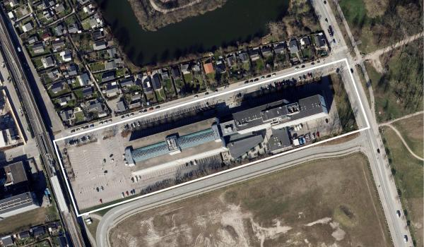 Luftfoto af lokalplanområdet Hedegaardsvej II