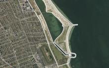 Luftfoto af lokalplanområdet Amager Strandpark